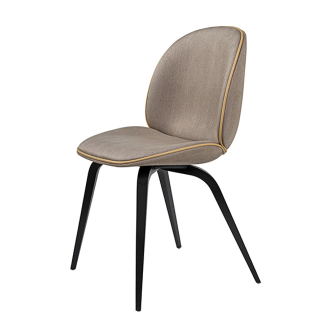 Beetle Chair Woodbase Upholstered in Chianti 05 / blackstainedd beech base