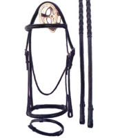 Bobby's Black Raised Bridle with Flash Noseband