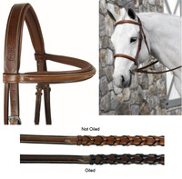 Beval Conquer Padded, MONO Crown, Fancy Stitched Bridle, Pony & Cob