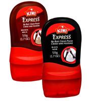 Kiwi Express No Buff Cream Polish, Black & Brown