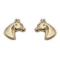 Gold Pony Head Earrings