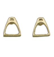 Gold Stirrup Earrings