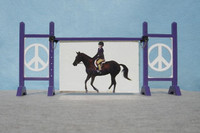 Peace Frame from Model Horse Jumps