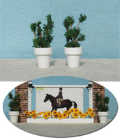 Flower Pots with Greenery for Model Horse Jumps