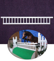 White Classic Gate for Model Horse Jumps
