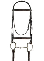 Ovation Raised Fancy Stitched Padded Bridle, Pony & Cob