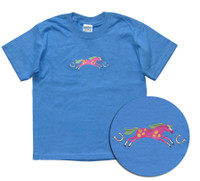Brite Pony Embroidered  ChildsTee, Sizes XS - L