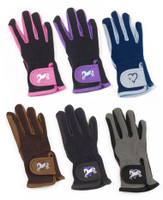 Ovation Heart & Horse Gloves, Youth Sizes A & B