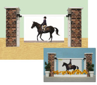 Brick Frame from Model Horse Jumps