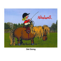 "Thelwell ""Out and About"" Greeting Card: 'Get Going'"