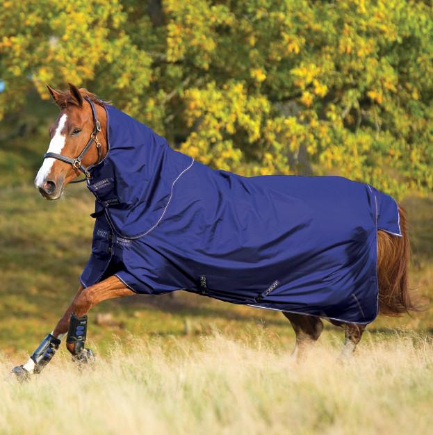 Amigo Pony Hero 6 Plus Medium Turnout Atlantic Blue
