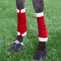 Holiday Horse Wear, Santa Leg Wraps, Set of 4