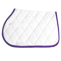 Toklat Classic Square Pad, White with Purple Trim
