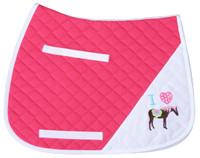 TuffRider I Heart Pony Saddle Pad, Hot Pink