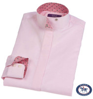 Essex Classics 'La Vista' Wrap Collar Shirt, Pink, Sizes 12 - 18