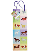 Pastel Horses Bottle Gift Bag