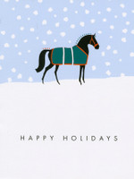 'Snowy Paddock' Horse Holiday Cards - Box of 8