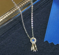 Blue Ribbon Silver Necklace