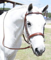 Huntley Equestrian Fancy Stitched Bridle, Fancy Reins, Three Sizes