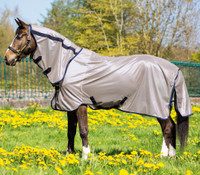 Horseware Mio Pony Fly Sheet, Bronze/Navy, 54'' - 69''