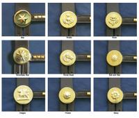 Brass  Bridle Rosettes