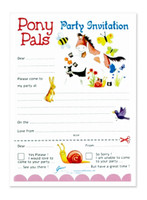 Pony Pals Party Invitations and Envelopes, Pack of 8