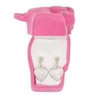 Horse Head Heart Earrings in Horse Head Gift Box