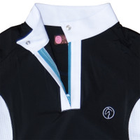 Kathryn Lily ProAir Vented Competition Shirt, Black/White