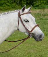 Americana Fancy Padded Square Raised Bridle, Two Colors