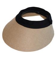 EquiVisor Helmet Visor, Jute with Black Band