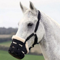 Shires Deluxe Comfort Grazing Muzzle with Halter, Three Sizes