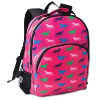 Horse Print Backpack, Pink