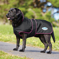 Weatherbeeta 420D Deluxe Fleece Lined Dog Windbreaker, Black/Boysenberry