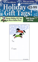 'Frolicing in Polka Dots' Holiday Gift Tags, Pack of 12
