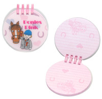 Ponies in the Pink Small Round Notebook