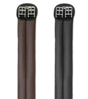 "Wintec Elastic Short Girth, Black & Brown,  20"" -  38"""