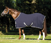 "Amigo Stable Sheet, Navy with Silver, 66"" & 69"""