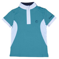 Kathryn Lily MeshAir Polo Competition Polo, Teal with White
