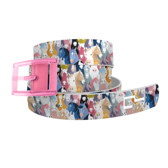 Horse Heads, Pink Buckle