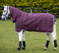 "Rhino Pony All-In-One Heavy Turnout, Berry Check, 45"" - 69"""