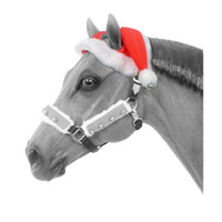 Holiday Horse Wear, Two Ear Santa Hat