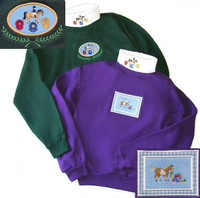 EQ Sweatshirts with Embroidered Applique