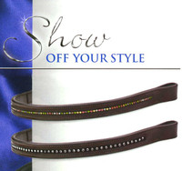Fancy Browbands With Stones, Horse Size Only