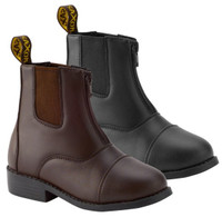 Saxon EquiLeather Zip Boots, Brown Sizes 1 & 5 Only