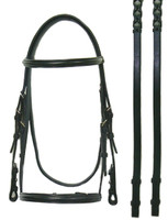 Bobby's  Plain Raised Black Bridle