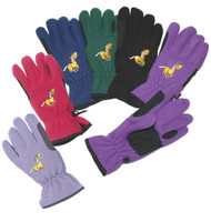 Equi-Star Fleece Riding Gloves, Youth XS - L