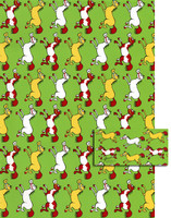 Comic Horse Gift Wrap with Tags