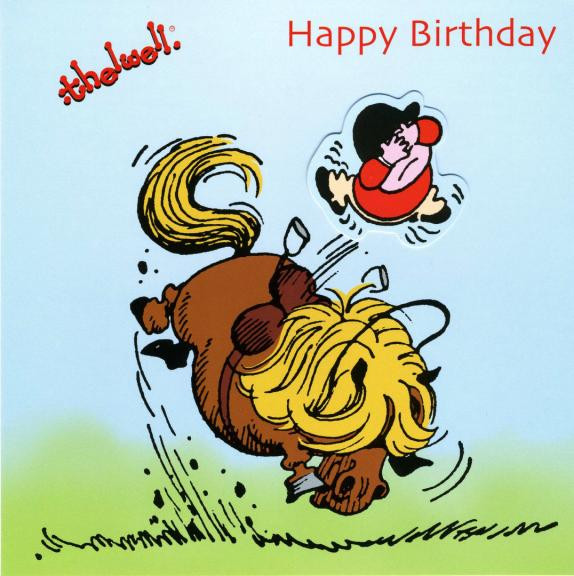Thelwell Birthday Card 'Play Thing