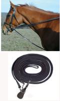 Pro-Am Leather Pony Draw Reins