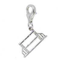 Sterling Silver Fence Charm